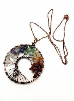 Vintage Floral Gemstone Pendant Necklaces (5501586)