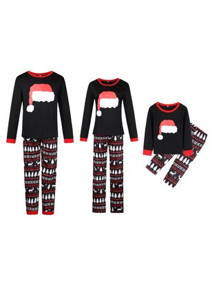 Family Look Geometric Christmas Long Sleeve Family Outfits (119992938)
