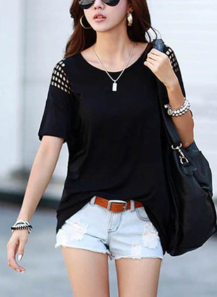 Cotton Solid Round Neck Half Sleeve T-shirts
