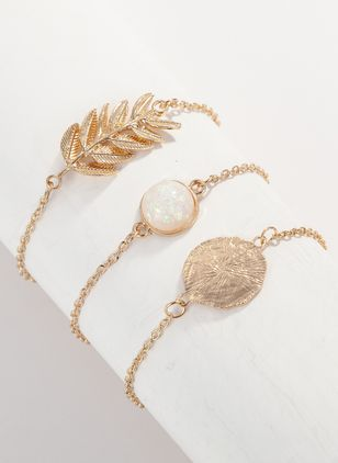Casual Ball No Stone Link Bracelets (1377593)
