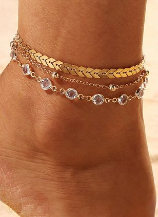 Casual No Stone Geometric Anklet (100772657)