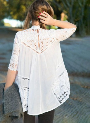 Solid Cotton Half Sleeve Blouses