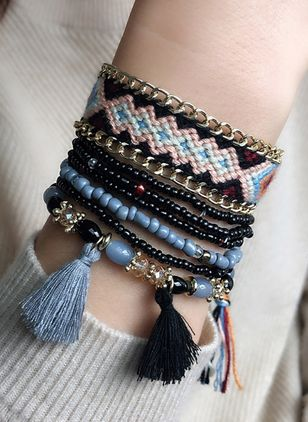 Casual Tassel No Stone Beaded Bracelets (6211657)
