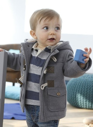 Boys' Solid Hooded Coats