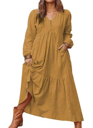Robes Casual Neutre Manches longues Maxi (147210552)