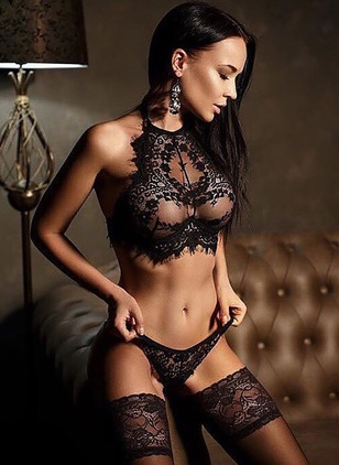 Plain Mesh Lingerie Sets