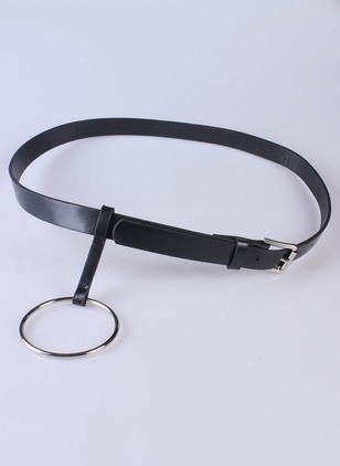Cute PU Metal Color Block Belts