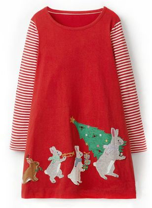 Girls' Christmas Animal Daily Long Sleeve Clothing Sets (118208042)