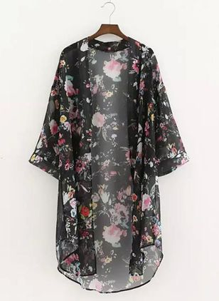 Floral Cover-Ups Swimwear