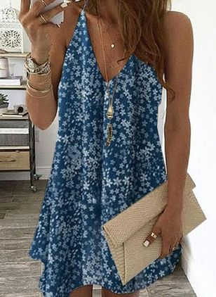 Casual Floral Tunic Camisole Neckline A-line Dress (4265256)