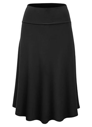 Plain Midi Casual Ruches Rokken