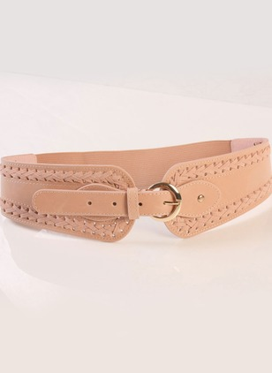 Casual Fabric Solid Belts