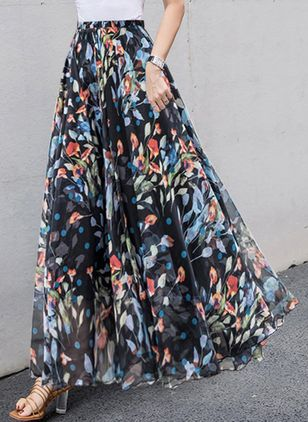Floral Maxi Casual Skirts (2201334)