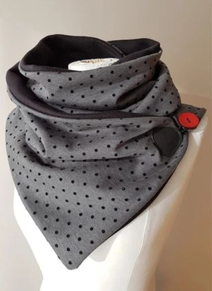 Casual Polka Dot Scarves (146712745)
