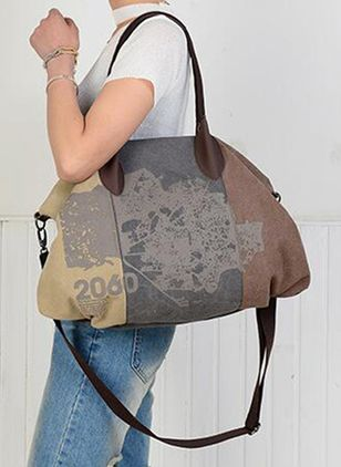 Tote Messenger Print Double Handle Bags (147142420)