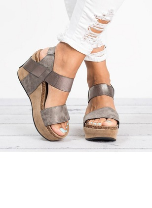Slingbacks Wedge Heel Shoes (1222644)