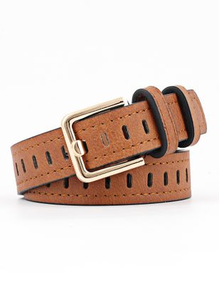 Elegant Hollow Out Solid Belts (5501779)
