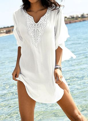 Chiffon Solid Cover-Ups Swimwear (1325331)