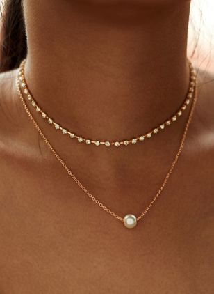 Casual Ball Pearls Pendant Necklaces (147929691)