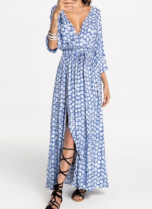 Long Sleeve Maxi Shift Dress