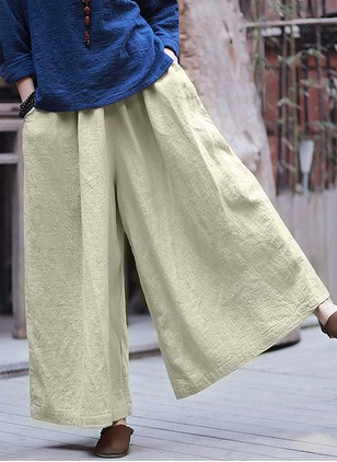 Loose Linen Trousers Pants & Leggings