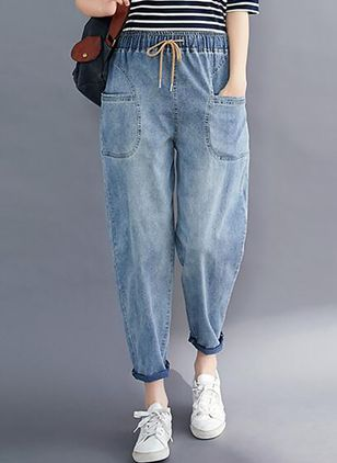 Women's Straight Jeans Pants (4043185)