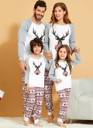 Family Look Animal Christmas Long Sleeve Family Outfits (120294927)