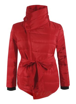 Long Sleeve High Neckline Sashes Padded Coats