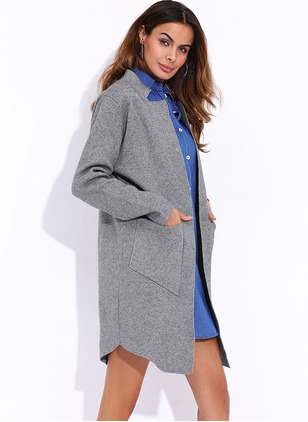 Polyester Long Sleeve Other Pockets Others Coats