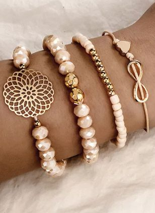 Casual Floral Ball Gemstone Beaded Bracelets (1543050)