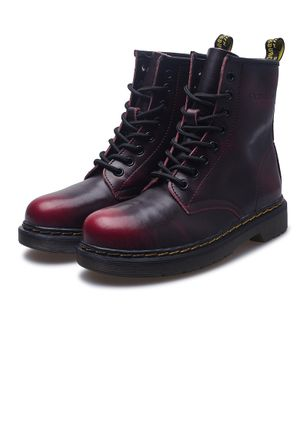 Lace-up Mid-Calf Boots Low Heel Shoes