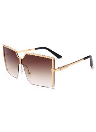 Casual Sunglasses Metal Frame Metal Sunglasses (4074538)