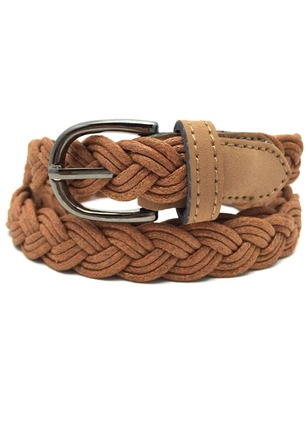 Casual Knitted Metal Solid Belts
