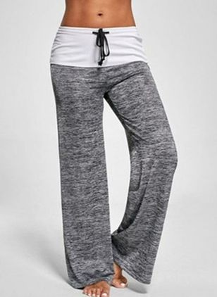 Casual Straight Low Waist Polyester Pants (146987632)