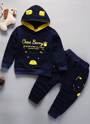 Boys' Alphabet Daily Long Sleeve Clothing Sets