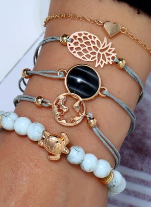 Casual Animal Gemstone Bangle Bracelets (6211668)