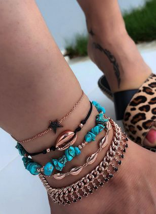 Casual No Stone Round Anklet (5501665)