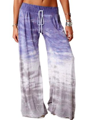 Casual Loose Low Waist Polyester Pants (147048987)
