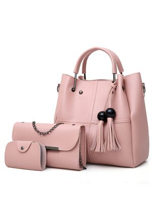 Bag Sets Shoulder Fashion Tassel Double Handle Bags (1529797)