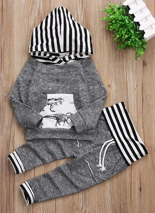 Boys' Casual Animal Daily Long Sleeve Clothing Sets