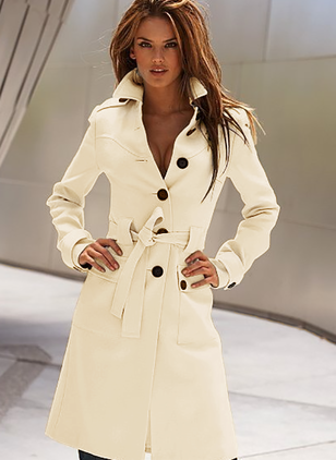 Polyester Long Sleeve Lapel Others Coats Coats