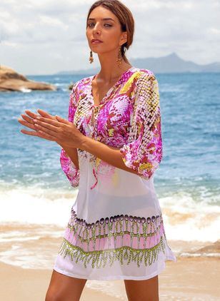 Pattern Floral Cover-Ups Swimwear