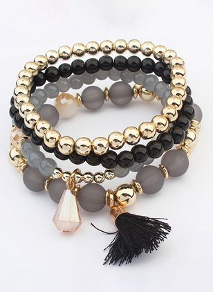 Casual Tassel Crystal Beaded Bracelets (6211648)