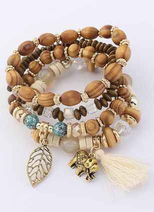 Casual Tassel No Stone Beaded Bracelets (6211649)