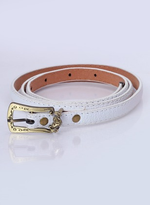 Casual PU Metal Solid Belts