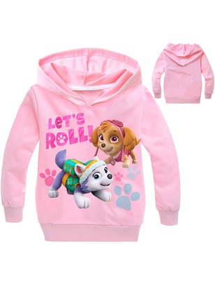 Girls' Cartoon Others Long Sleeve Tops