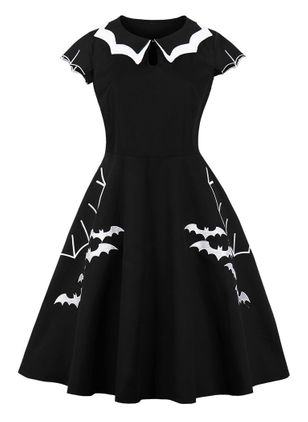 Halloween Animal Skater Round Neckline X-line Dress (109554432)
