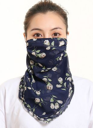 Casual Floral Scarves (100772444)