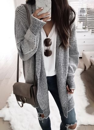 Long Sleeve Collarless Coats