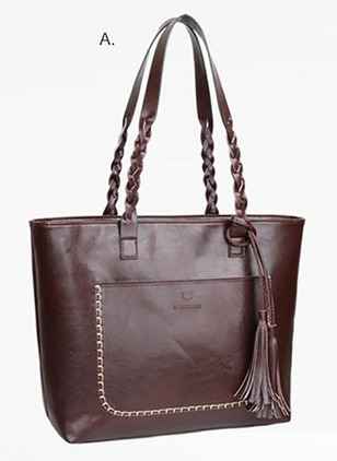 Totes Fashion PU Tassel Double Handle Bags